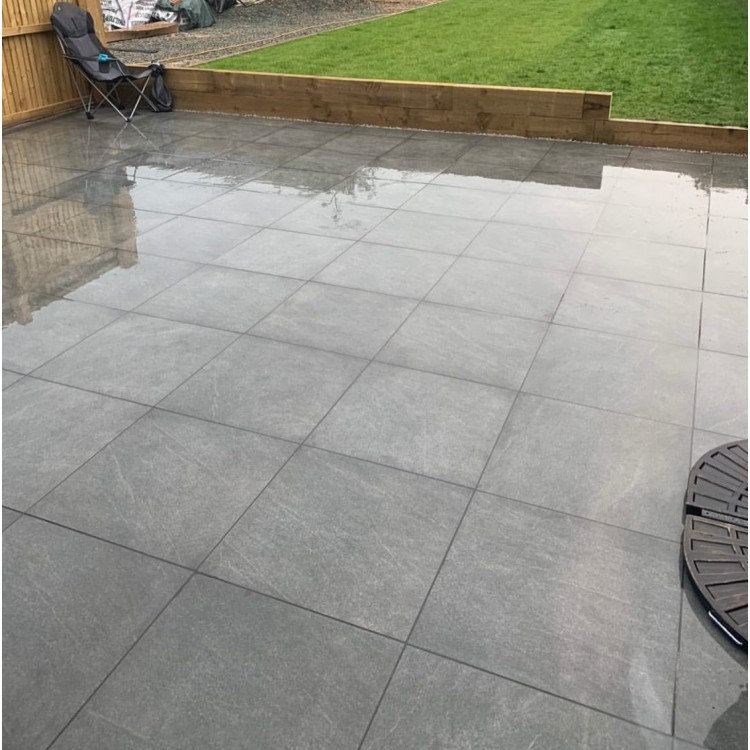 Betria Anthracite 20mm Outdoor Porcelain Slabs