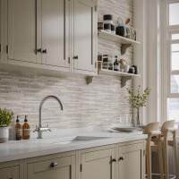 Snowdon Silver Matt 250x500mm Ceramic Structured Decor Wall Tile