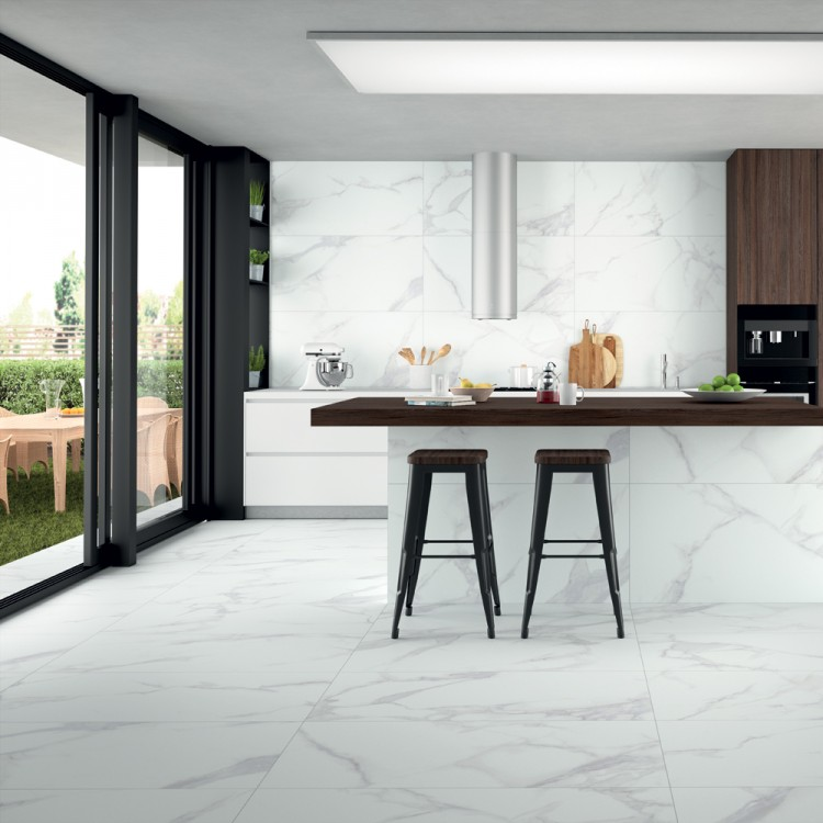Purity White Marble 30 x 60cm Porcelain