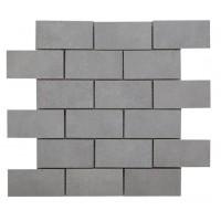 Cemento Light Grey Brick Mosaic 96x47mm