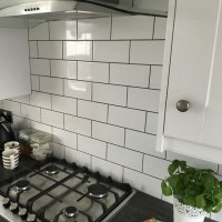 Central White Ceramic Flat Wall Tile 100x200mm