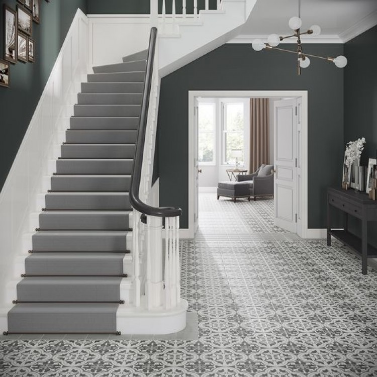 Crafted Cement Heritage Pattern Glazed Porcelain 185x185mm