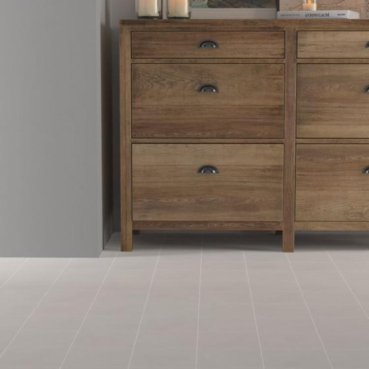Crafted Cement Plain Warm Grey Glazed Porcelain 185x185mm