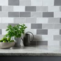 Handmade Dove Grey Ceramic Wall 75x150mm
