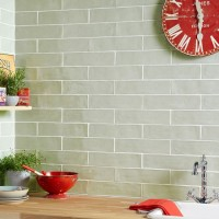 Handmade Sage Ceramic Wall 75x300mm