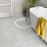 Rainstone Grey Hexagon Mosaic 93mm
