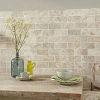 Vanilla Cream Tumbled Marble W&F 75x152mm