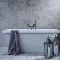 Silver Shadow Grey (Bevelled Edge) Polished Marble W&F 610x305mm