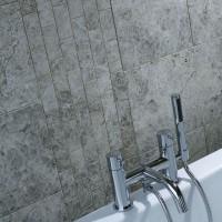 Silver Shadow Grey Polished Marble Mosaic 50x100mm